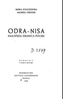 Odra-Nisa: najlepsza granica Polski