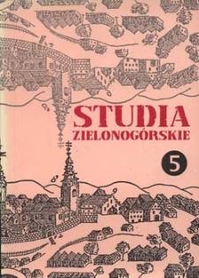Studia Zielonogórskie: tom V