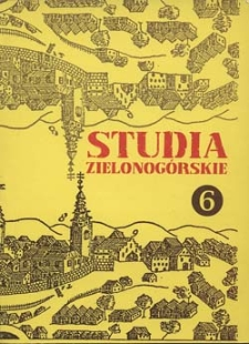 Studia Zielonogórskie: tom VI