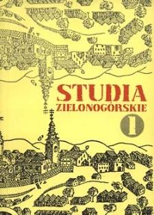 Studia Zielonogórskie: tom I