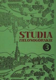 Studia Zielonogórskie: tom III