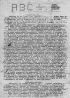 ABC: pismo studentów Uniwersytetu Gdańskiego, nr 1 (październik 1986)