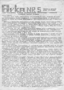 Arka: pismo Niezależnego Zrzeszenia Studentów uczelni warszawskich, nr 1 (27.04.1982 r.)