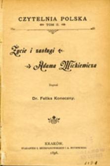 Życie i zasługi Adama Mickiewicza