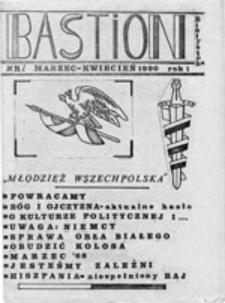 """Bastion: """"Młodzież Wszechpolska"""", nr 1 (marzec-kwiecień 1990)"""