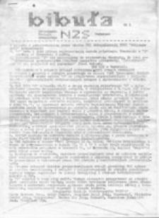 Bibuła: Tymczasowa Komisja Wykonawcza NZS Warszawa, nr 1