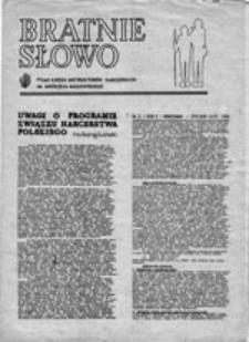 Bratnie słowo: pismo kręgu instruktorów harcerskich im. Andrzeja Małkowskiego, nr 2 (17 grudnia 1980)