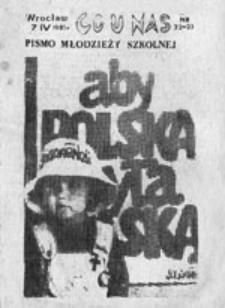 Co u nas: pismo młodzieży szkolnej, nr 22-23 (7 IV 1985 r.)