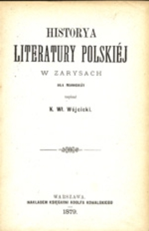 Historya literatury polskiej w zarysach dla młodzieży
