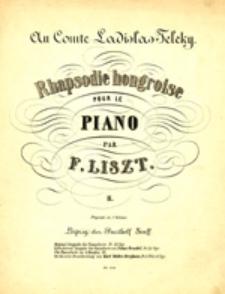 Rhapsodie hongroise II / Rapsodia Węgierska II; pour le piano par F. Liszt