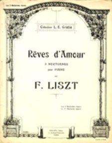 Réves d'Amour: 3 nocturnes pour Piano