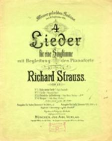 4 Lieder für eine Singstimme mit Begleitung des Pianoforte, op. 27 No 3 - Heimliche Aufforderung