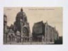 Głogów / Glogau; Synagoge und Katholisches Krankenhaus