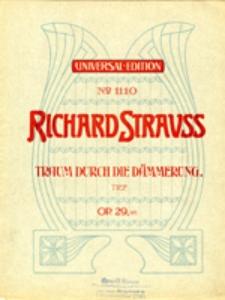 Drei Lieder (nach Gedichten von Otto Julius Bierbaum) für eine Singstimme mit Klavierbegleitung, op. 29 No 1 - Traum durch die Dämmerung