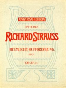 4 Lieder für eine Singstimme mit Begleitung des Pianoforte, op. 27 No 3 - Heimliche Aufforderung, hoch.