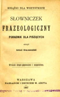 Słowniczek frazeologiczny: poradnik dla piszących