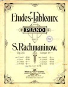 Etudes-Tableaux pour piano; op. 33 no 6. Es-moll