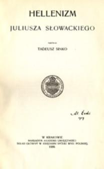 Hellenizm Juliusza Słowackiego