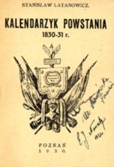 Kalendarzyk powstania : 1830-31 r.