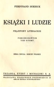 Książki i ludzie: feljetony literackie