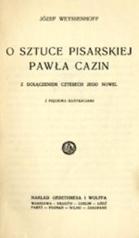 O sztuce pisarskiej Pawła Cazin