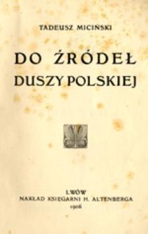 Do źródeł duszy polskiej