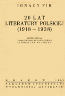 20 lat literatury polskiej (1918-1938)