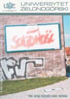 Uniwersytet Zielonogórski, 2002, nr 4/5 (kwiecień-maj)