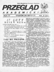 Przegląd Akademicki: pismo Niezależnego Zrzeszenia Studentów, nr 1 (1986.01.05)