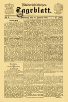 Niederschlesisches Tageblatt, no 43 (Sonntag, den 20. Februar 1887)