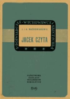 Jacek czyta: obserwacje psychologiczne i uwagi dydaktyczne