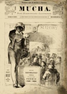 Mucha: Pismo Humorystyczne Ilustrowane, nr 45 (Warszawa, d. 26 października (7 listopada) 1890 roku)