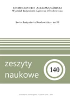 Zeszyty Naukowe Uniwersytetu Zielonogórskiego: Inżynieria Środowiska, Tom 20