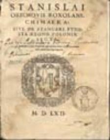 Chimera sive de Stancari funesta Regno Poloniae secta