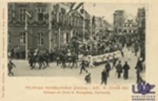 750 jähriges Weinbaujubiläum Grünberg i. Schl., 14. October 1900: Festwagen der Firma H. Woytschätzky, Tschicherzig