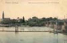 Kostrzyn Nowe Miasto / Cüstrin - Neu Stadt; Blick auf Cüstrin - Neustadt mit der Warthe-Brücke; Widok na Kostrzyn Nowe Miasto z mostem na Warcie