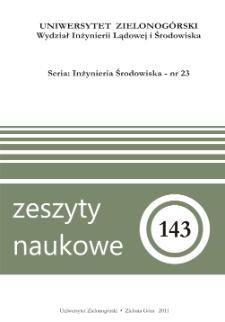 Zeszyty Naukowe Uniwersytetu Zielonogórskiego: Inżynieria Środowiska, Tom 23