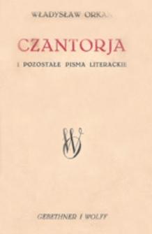Czantorja i pozostałe pisma literackie