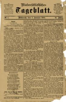 Niederschlesisches Tageblatt, no 1 (Mittwoch, den 3. Januar 1883)