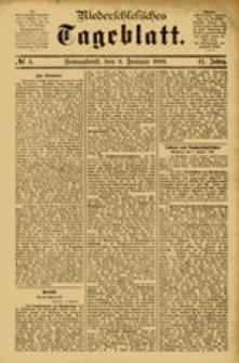 Niederschlesisches Tageblatt, no 4 (Sonnabend, den 6. Januar 1883)