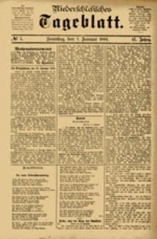 Niederschlesisches Tageblatt, no 5 (Sonntag, den 7. Januar 1883)