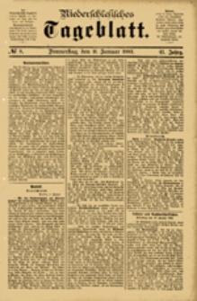 Niederschlesisches Tageblatt, no 8 (Donnerstag, den 11. Januar 1883)
