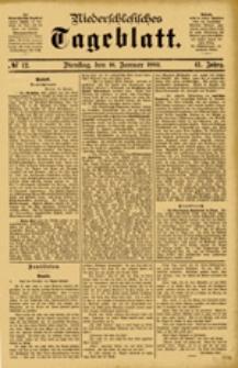 Niederschlesisches Tageblatt, no 12 (Dienstag, den 16. Januar 1883)