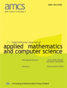 International Journal of Applied Mathematics and Computer Science (AMCS) 2005 Volume 15 Number 4
