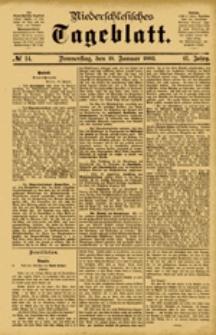 Niederschlesisches Tageblatt, no 14 (Donnerstag, den 18. Januar 1883)