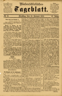 Niederschlesisches Tageblatt, no 18 (Dienstag, den 23. Januar 1883)