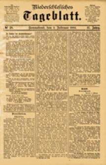 Niederschlesisches Tageblatt, no 28 (Sonnabend, den 3. Februar 1883)