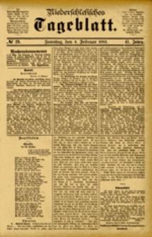 Niederschlesisches Tageblatt, no 29 (Sonntag, den 4. Februar 1883)
