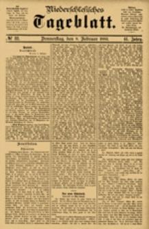 Niederschlesisches Tageblatt, no 32 (Donnerstag, den 8. Februar 1883)