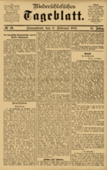 Niederschlesisches Tageblatt, no 40 (Sonnabend, den 17. Februar 1883)